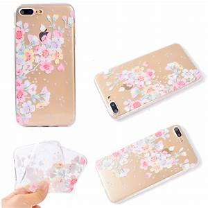 Cute Painted Clear Slim Soft TPU Protective Case Cover For ...