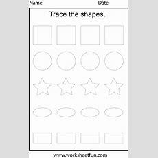 Shape Tracing  1 Worksheet  Free Printable Worksheets Worksheetfun