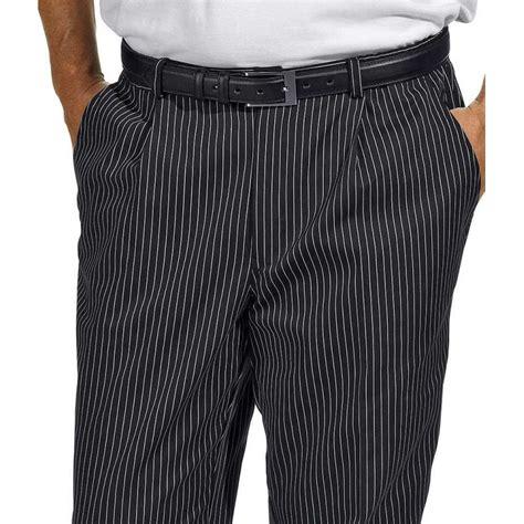 pantalon de cuisine ou de service fines rayures tissées