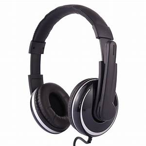 Ovleng Q6 Stereo Headset With Mic  U0026 Volume Control Key For Computer  Cable Length  2m  Black