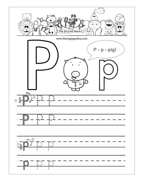 letter p writing worksheets worksheets for all