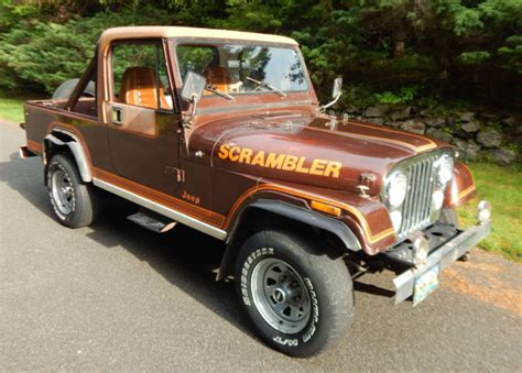 amc jeep scrambler 1982 amc jeep scrambler cj8 131k miles no reserve original