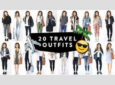 20 TRAVEL OUTFIT IDEAS Casual Travel Fashion Lookbook