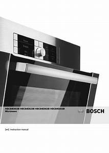 Bosch Integrated Combination Microwave Hap7010 Manuals