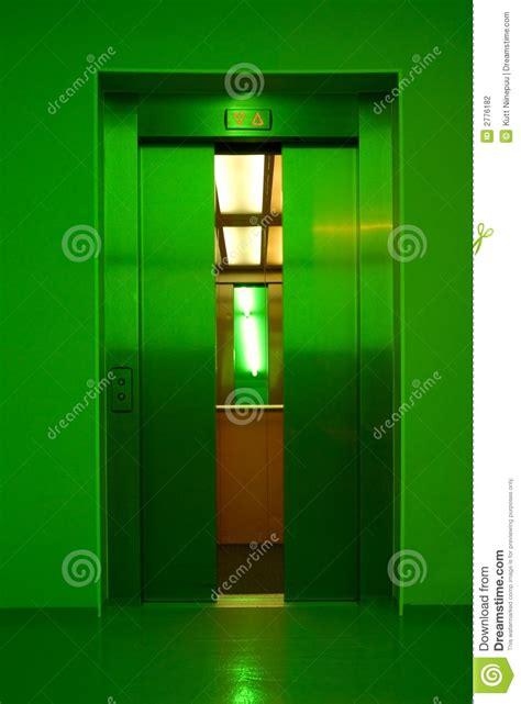 closing elevator doors stock photo image   open