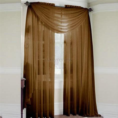 door room voile window curtain sheer panel drapes scarfs