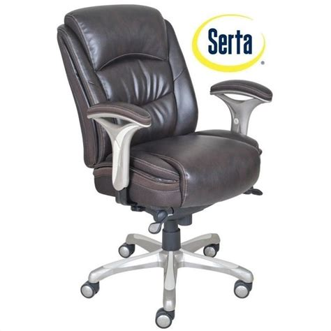 serta leather managers chair serta smart layers ergonomic leather manager office chair