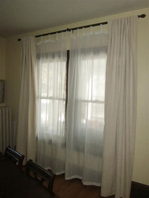 curtains and sheers on the same rod window treatment