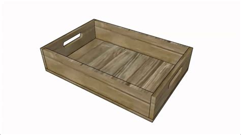 wood tray plans youtube
