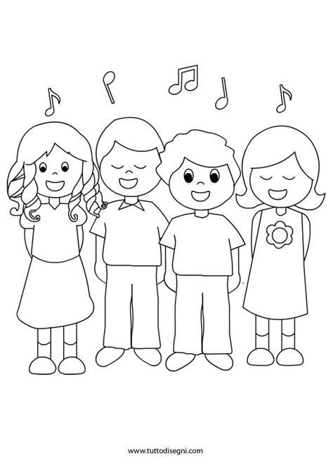 bambino da colorare e stare bambini che cantano da colorare tutto disegni