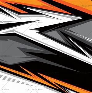 race car graphic design templates - vector single racing graphic 022 of
