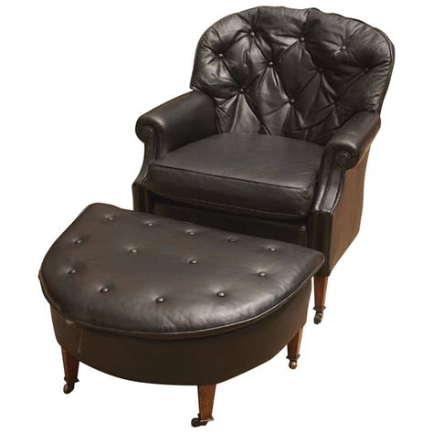 black leather club chair with ottoman black leather chesterfield club chair and ottoman for sale