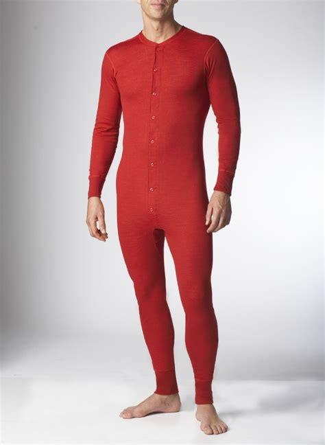 mens onesie  piece wool combination underwear