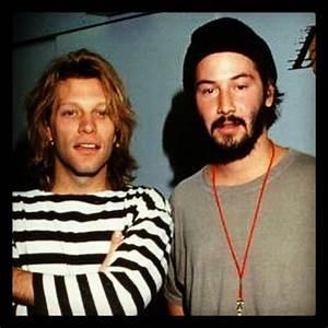 Jon Bon Jovi and Keanu Reeves. Keanu's band, Dogstar ...