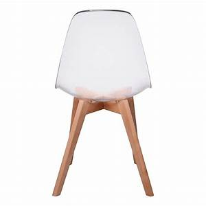 Lot De 2 Chaises Design Scandinaves Pas Cher Pieds Bois