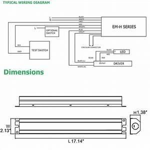 Led Emergency Battery Backup For Led Flat Panel Troffer T8