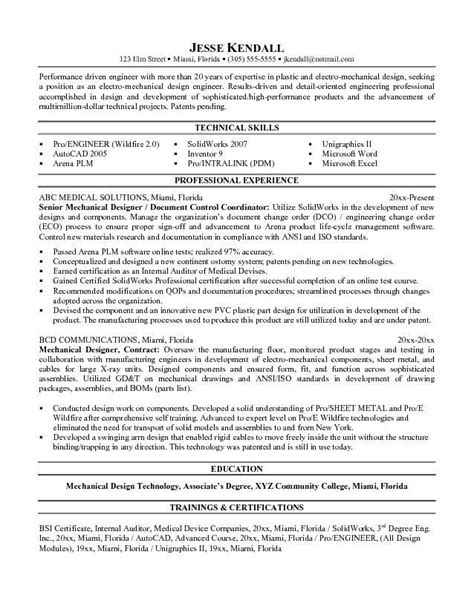 Module Resume by Mechanical Designer Resume Templates Word Get My Free
