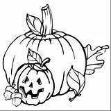Pumpkin Coloring Unicorn sketch template