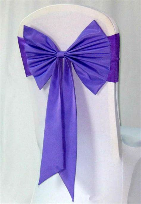 wedding decoration satin chair cover sash bow tie ribbon
