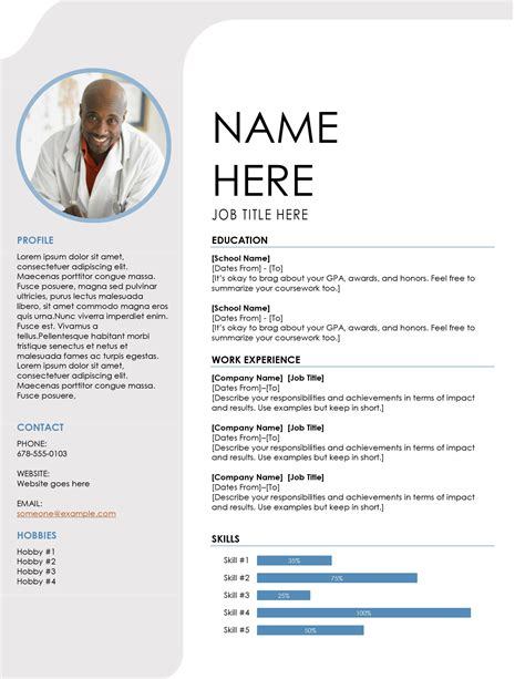 Picture Resume by Blue Grey Resume