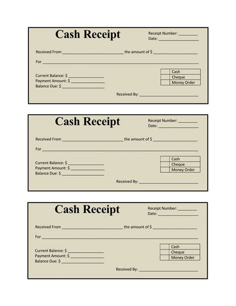 21 free cash receipt templates for word excel and pdf