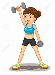 Exercise Girl Clipart - ClipartXtras