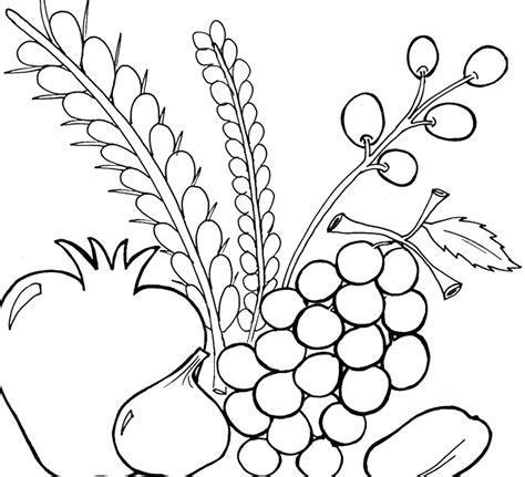 sukkot coloring pages