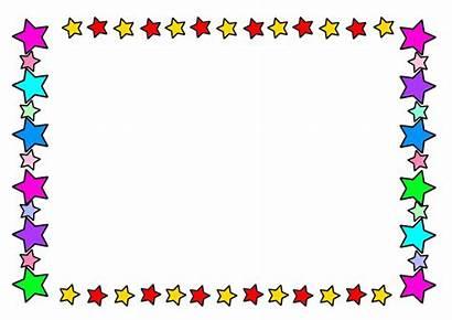 Frame Star Clipart Colour Cliparts Stars Clip