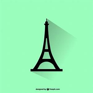 Eiffel tower silhouette Vector | Free Download
