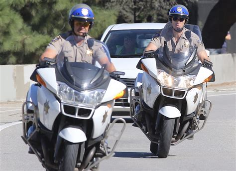 Dax Shephard And Michael Peña Film Scene For 'chips