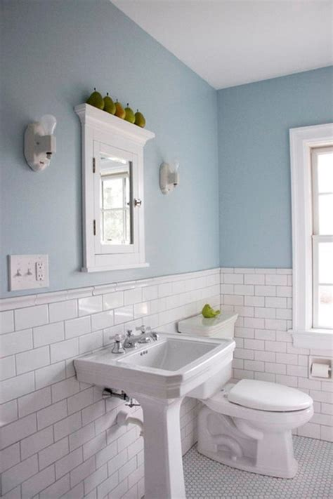 white subyway color combination traditional bathroom floor