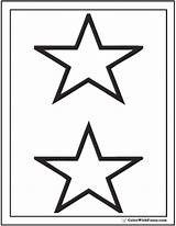 Coloring Pages Stars Star Printable Pdf Cool Stacked Tattoo Colorwithfuzzy Pattern sketch template