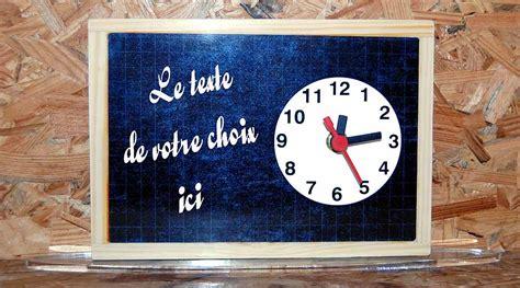 horloge sur le bureau boutique agdaphoto cadeaux personnalisés avec vos photos