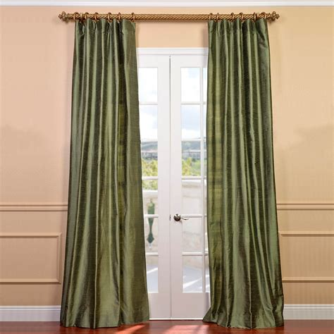 Silk Drapes - green silk curtains half price drapes