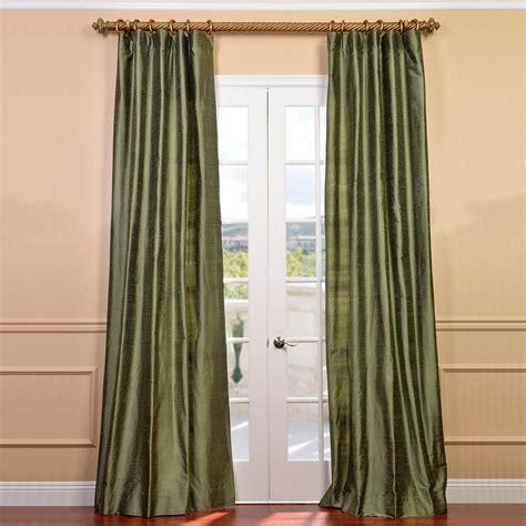 Green Silk Curtains  Half Price Drapes