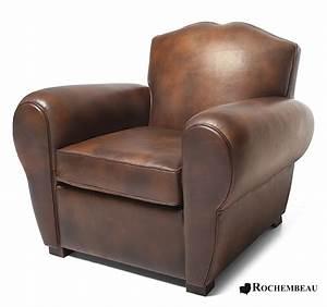 Mon Fauteuil Club : le fauteuil club moustache en cuir r dition du fauteuil club ann es 30 ~ Melissatoandfro.com Idées de Décoration