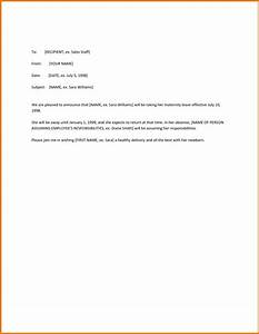 the amazing as well as stunning maternity leave letter With letter of maternity to employer template