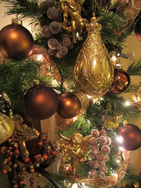 brown christmas decorations ideas  pinterest