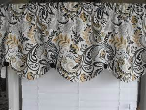 Yellow And Gray Curtains home decor valance gray yellow scalloped valance by