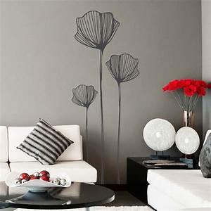 stickers fleurs de coquelicots stickers muraux nature With chambre bébé design avec box fleurs mensuel