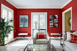 Red living rooms design ideas decorations photos for Red living room