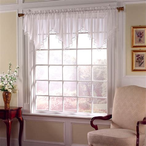 sears sheer lace curtains sheer voile valance sears