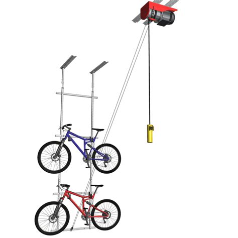 Motorized Horizontal Double Bike Lift The Garage