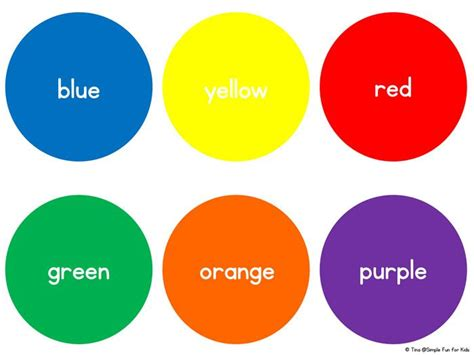 learning colors for toddlers basic color circles toddler learning colors for