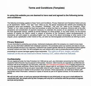 terms and conditions sample 8 documents in pdf word With advertising terms and conditions template