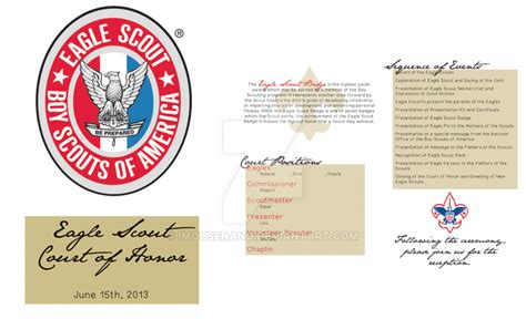 eagle scout court of honor program template eagle scout court of honor program by imousenano on deviantart