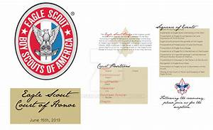 eagle scout court of honor program template - eagle scout court of honor program by imousenano on deviantart