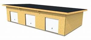 Garage Ossature Bois : garage en bois type ossature bois en toit mono pente ~ Melissatoandfro.com Idées de Décoration