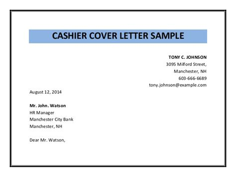 Cover Letter For Cashier by Contos Dunne Communications Cover Letter Cashier