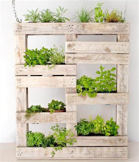 How To Make A Vertical Pallet Herb Garden by 300 Pallet Ideas And Easy Pallet Projects You Can Try